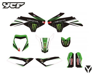 KIT DECO N STYLE 50 TEAM GREEN MONSTER